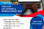 Hébergement web / Prestations de services informatiques.