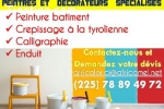 PEINTRES ET DECORATEURS ET DECORATEURS SPECIALISES