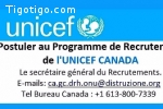 PROGRAMME DE RECRUTEMENT UNICEF 2018