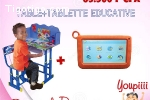 Tablette éducative et table-banc pour enfants