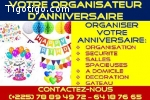 VOTRE ORGANISATEUR D'ANNIVERSAIRE