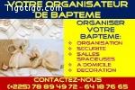 VOTRE ORGANISATEUR DE BAPTEME